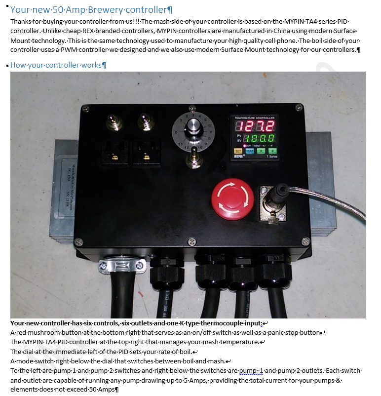 Product Manuals. 50 240v Electric Home Brewery Controller Control Panel Manual. Wiring. Rims Tube 120vac Wiring Diagram At Eloancard.info